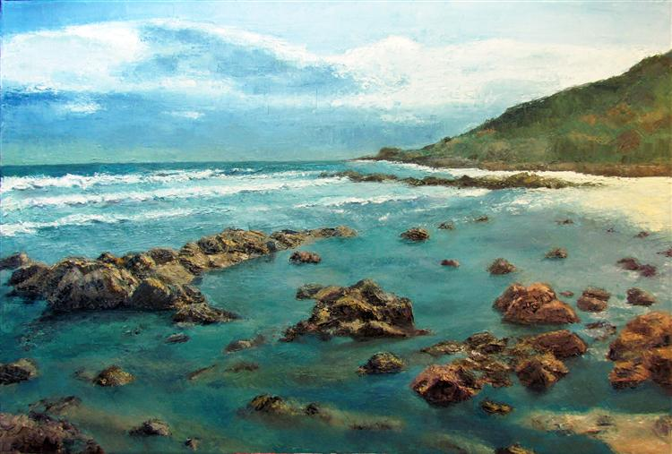 The Isle of Wight - Oil on Canvas - Alastair  Cadden