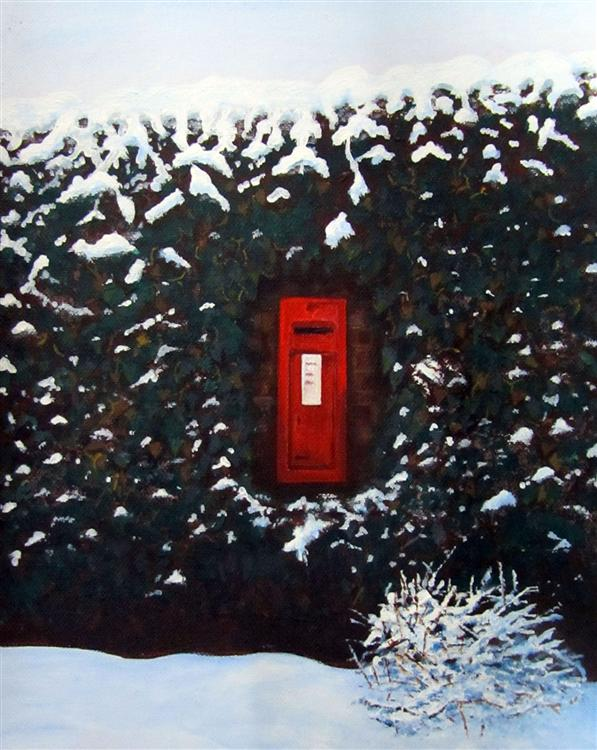 Post Box - Bob Ireland - acrylic on canvas - 25cms x 30cms