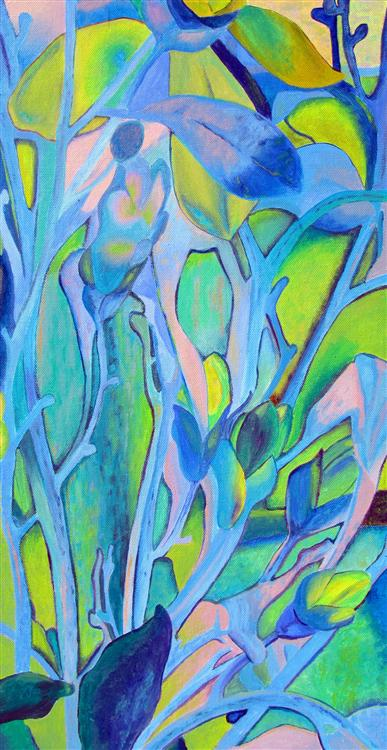"Organic Forms - Jan Bennett - 12"" x 24"" - acrylic on canvas"