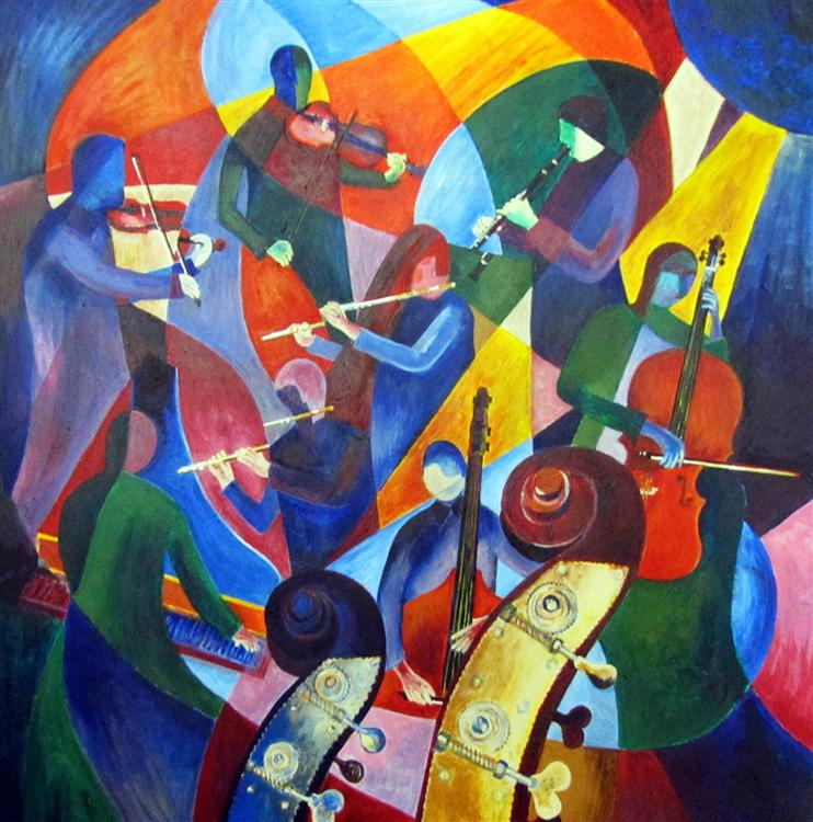 Peter Jewell - Jazz 2 - Acrylic on canvas