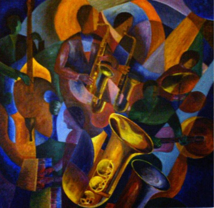 Jazz - acrylic on canvas - Peter Jewel