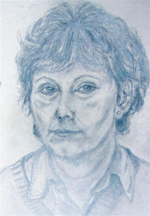 Heather Nicholls - Self portraits - Pencil