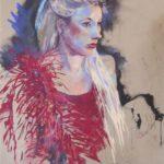 Lauren   50cm x 65cm   pastel on paper