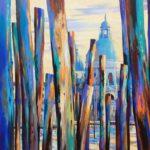 Santa Maria della Salute with Mooring Poles  150cm x 150cm   Acrylic