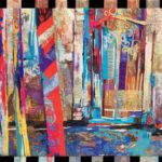 Mooring Poles Venice        140cm x 120cm Textile Hanging