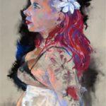 Emma     45cm x 60cm    pastel on paper
