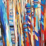 Mooring Poles, Accademia  70cm x 90cm Acrylic