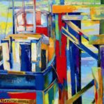 Boats Southwold  70cm x 90cm Acrylic