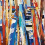 Mooring PolesRialto  70cm x 70cm  Acrylic