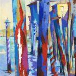 Mooring Poles from San Vio 50cm x 100cm  Acrylic