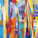 Looking Through to the Rialto 50cm x 100cm Acrylic