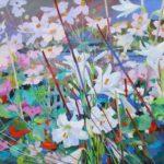 Garden with Lilies 60cm x 60cm Acrylic