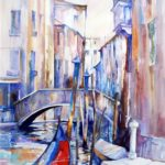 Canal by the Frari                   65cm x 48cm     watercolour on paper