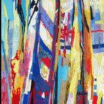 Glimpse of the Rialto           50cm x 100cm      textile hanging